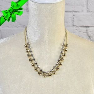 Jewelry - Gold & Silver Double Necklace ~0cd40s0sc20